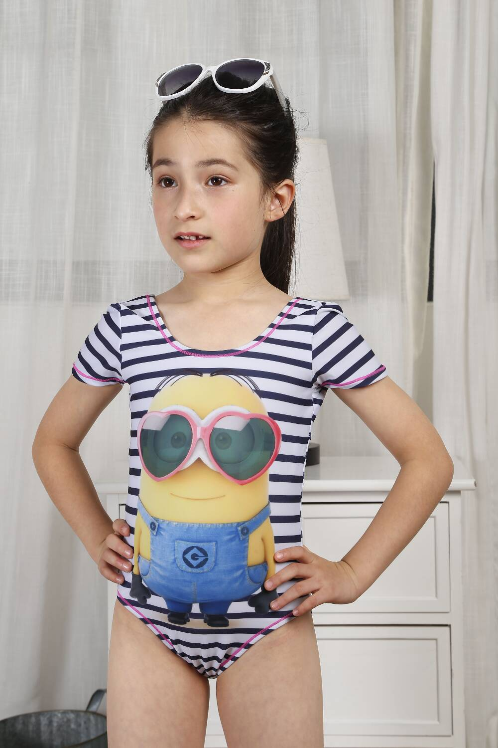 Fashion Minions Girl bathing suit